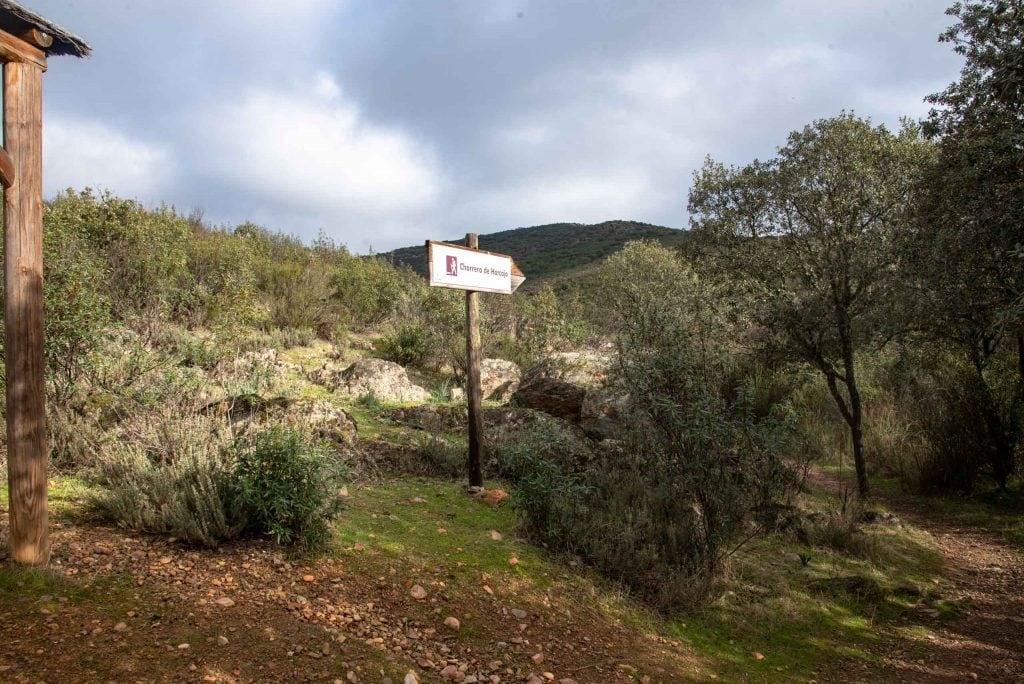 Comienzo de la ruta de la Chorrera.