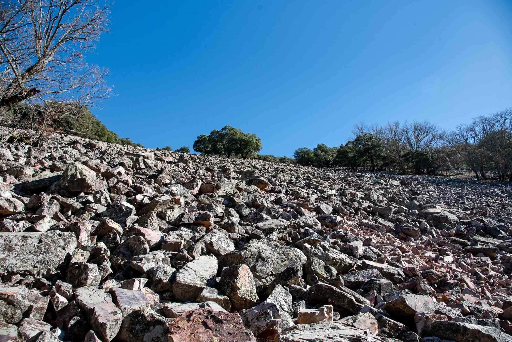 Pedriza camino de la Chorrera Chica en Cabañeros