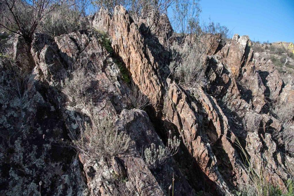 Pizarras sedimentarias en la Chorrera