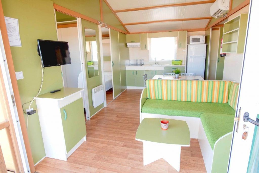 Camping Cabañeros interior salon